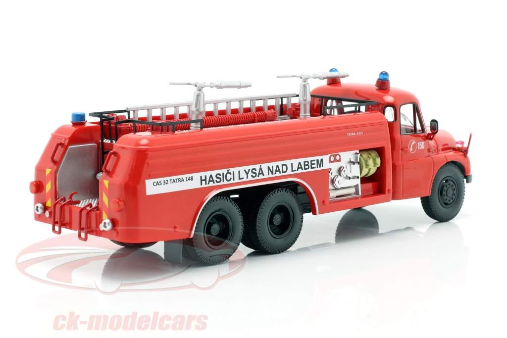 Tatra T148 6x6 Cuerpo de bomberos Republica Checa Año de construcción 1968 rojo 1:43 Schuco