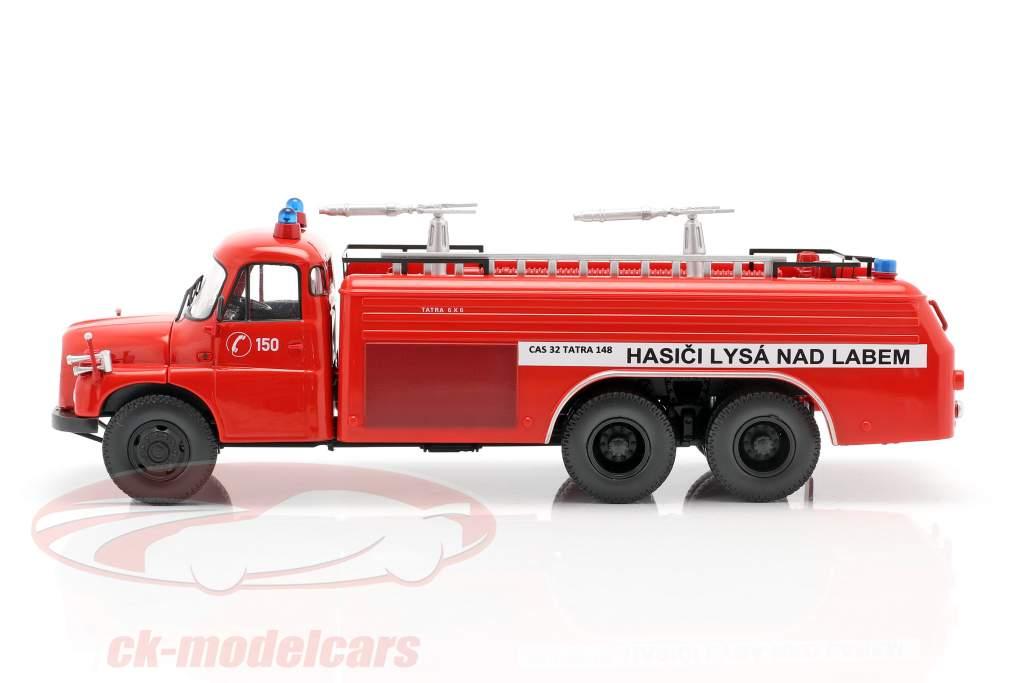 Tatra T148 6x6 fire Department Czech Republic  year 1968 red 1:43 Schuco