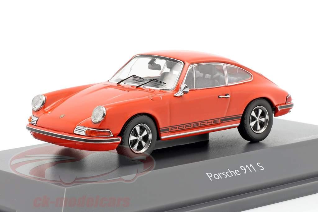 Porsche 911 S Coupe Ano de construção 1971 laranja 1:43 Schuco
