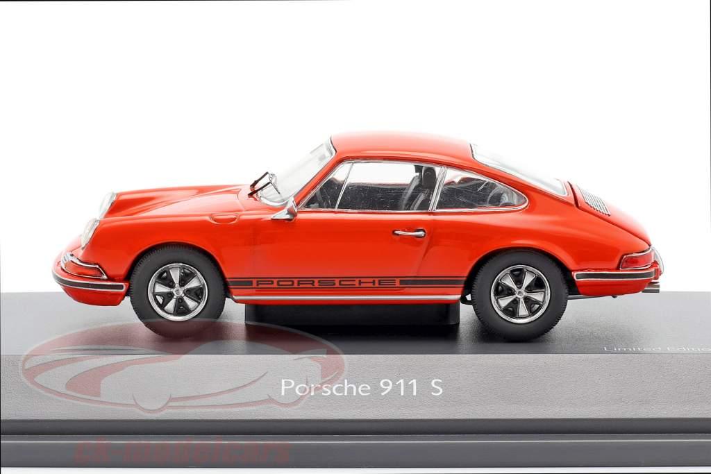 Porsche 911 S Coupe Baujahr 1971 orange 1:43 Schuco