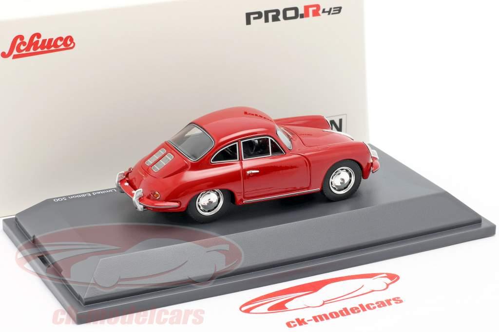 Porsche 356 SC Coupe Byggeår 1961-1963 rød 1:43 Schuco