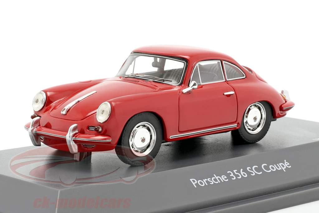 Porsche 356 SC Coupe year 1961-1963 red 1:43 Schuco