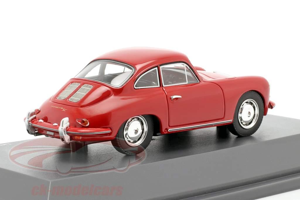 Porsche 356 SC Coupe Anno di costruzione 1961-1963 rosso 1:43 Schuco