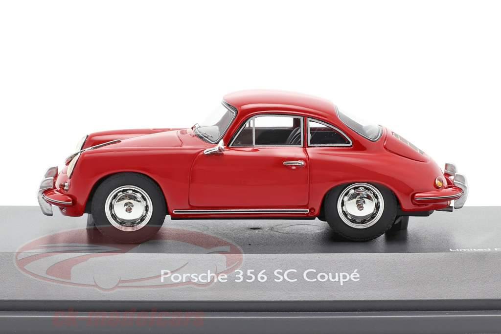 Porsche 356 SC Coupe Bouwjaar 1961-1963 rood 1:43 Schuco