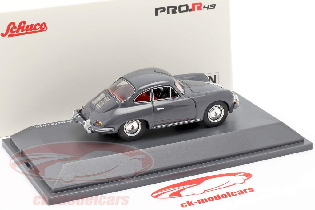 Porsche 356 SC Coupe Byggeår 1961-1963 grå 1:43 Schuco