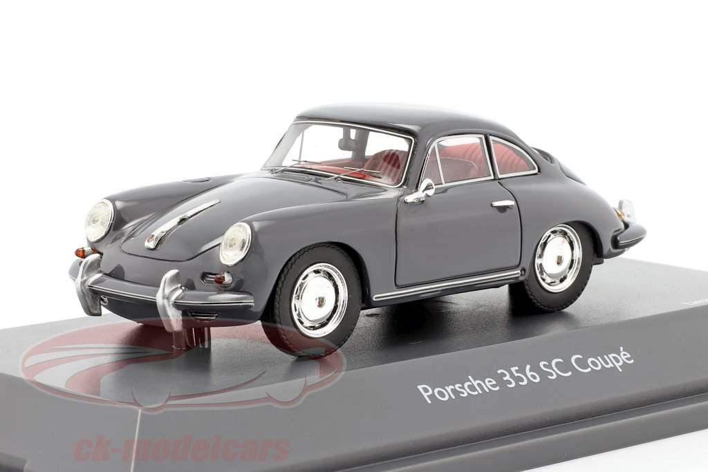 Porsche 356 SC Coupe year 1961-1963 grey 1:43 Schuco