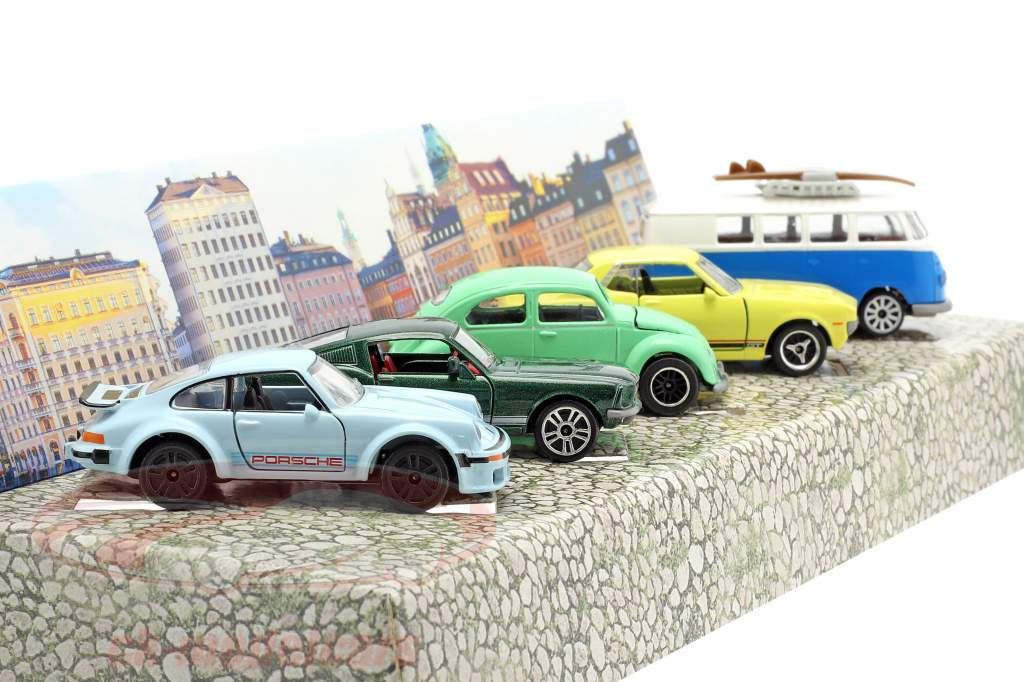 5-Car Set Vintage Cadeaupakket 1:64 Majorette