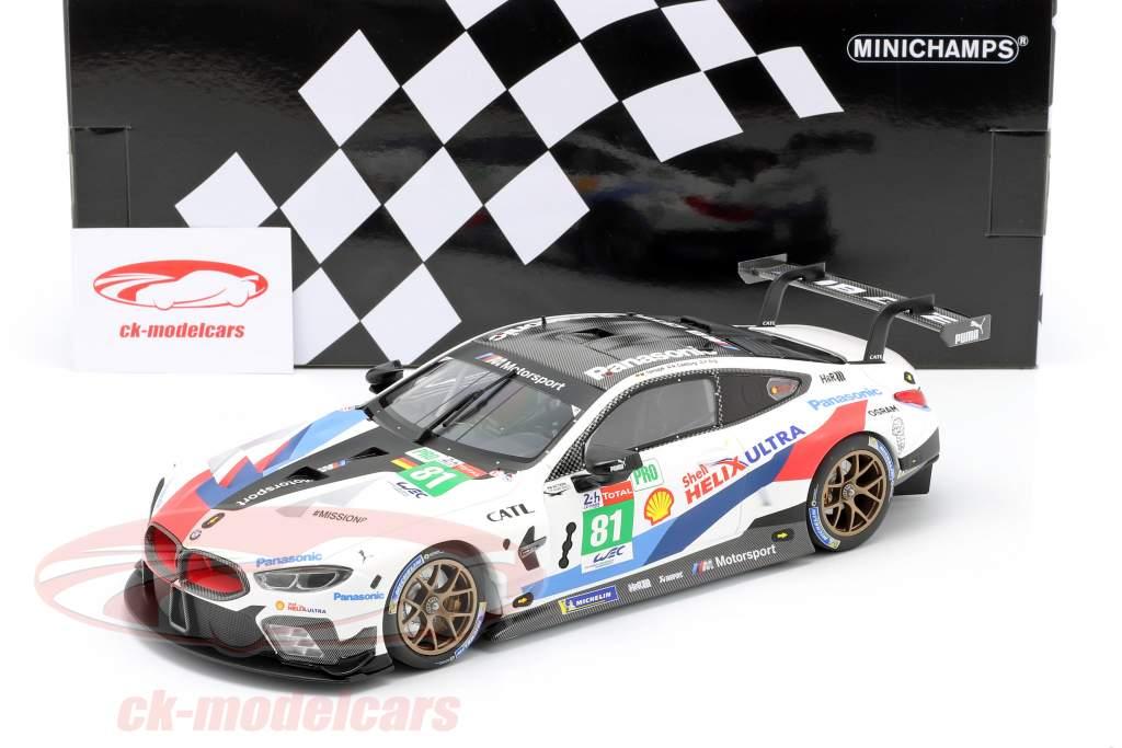 BMW M8 GTE #81 24h LeMans 2018 Tomczyk, Catsburg, Eng 1:18 Minichamps