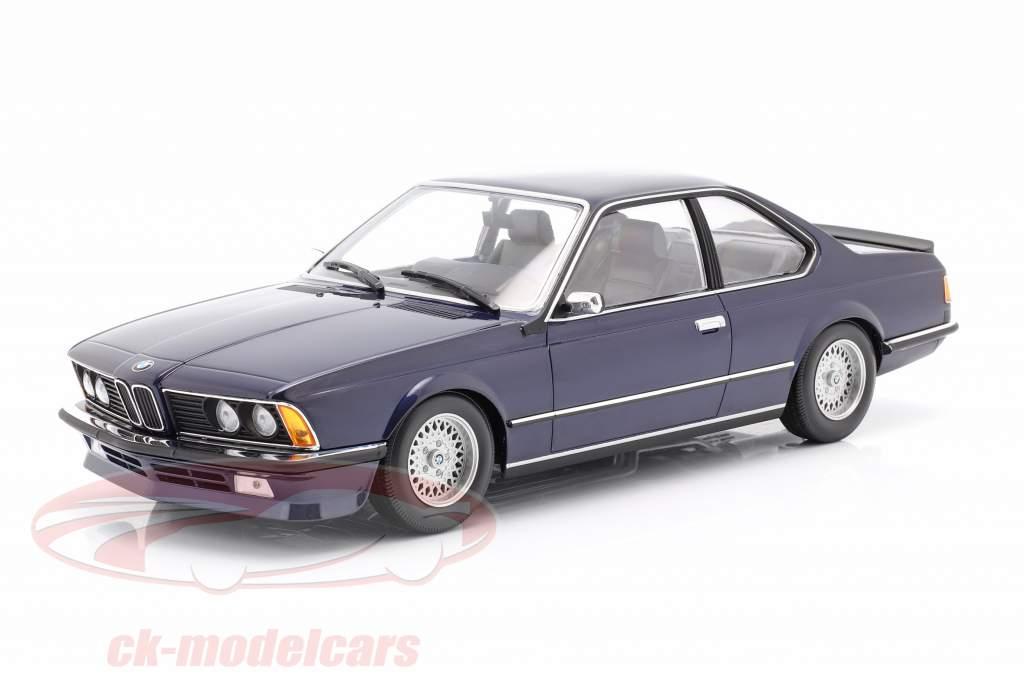 BMW 635 CSi (E24) Baujahr 1982 dunkelblau metallic 1:18 Minichamps