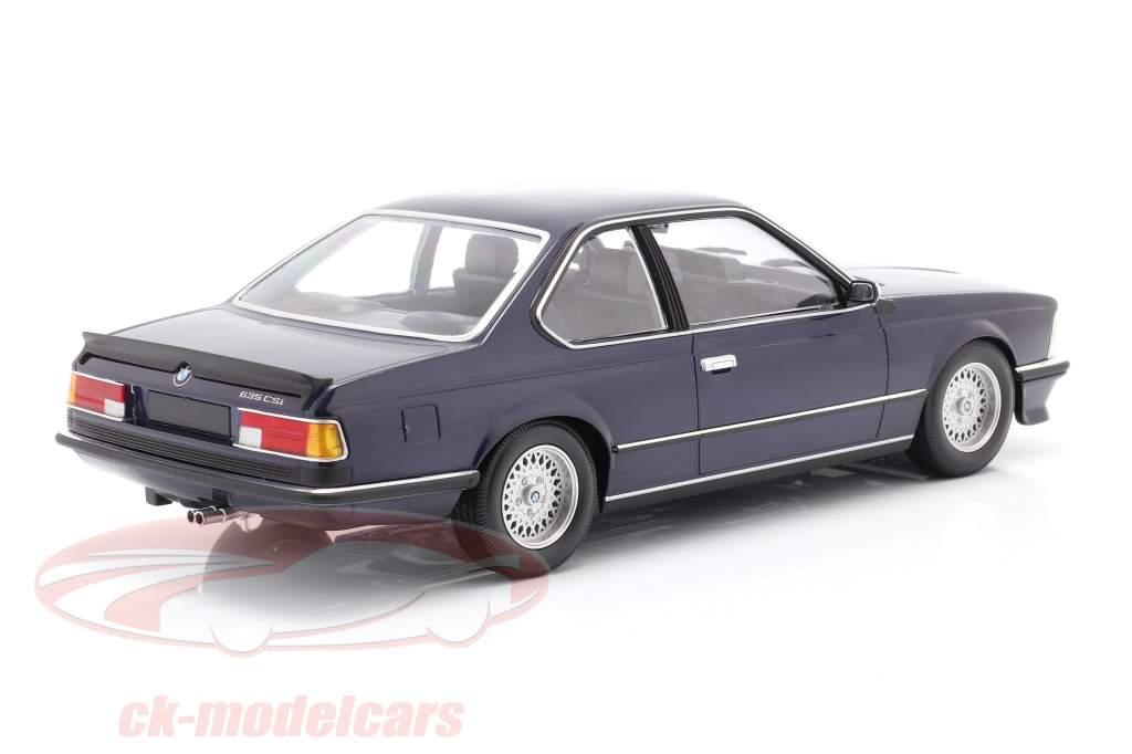 BMW 635 CSi (E24) Bouwjaar 1982 donkerblauw metallic 1:18 Minichamps