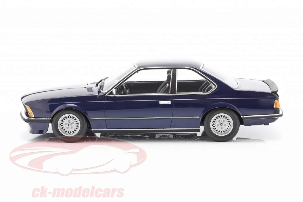 BMW 635 CSi (E24) Byggeår 1982 mørkeblå metallisk 1:18 Minichamps