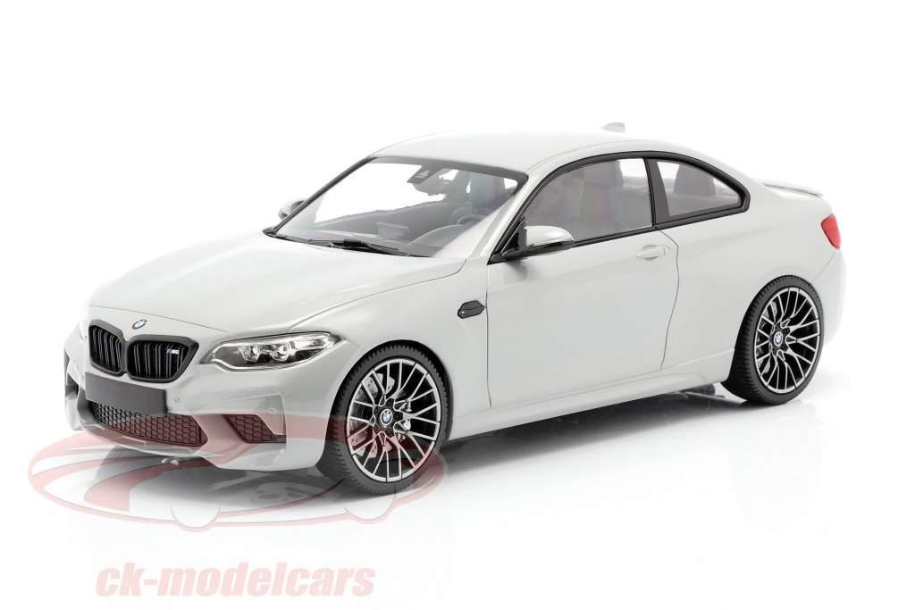 BMW M2 Competition Año de construcción 2019 Hockenheim plata metálico 1:18 Minichamps