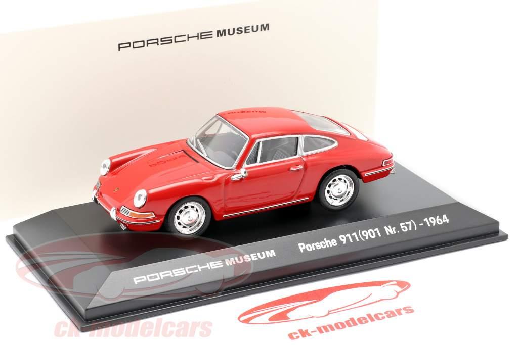 Porsche 911 (901 Nr. 57) Ano de construção 1964 vermelho 1:43 Welly