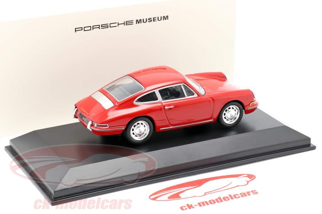 Porsche 911 (901 Nr. 57) Baujahr 1964 rot 1:43 Welly