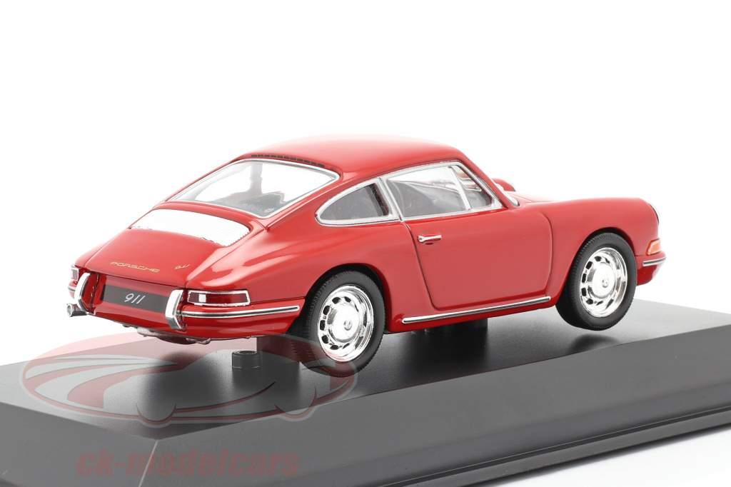 Porsche 911 (901 Nr. 57) Byggeår 1964 rød 1:43 Welly