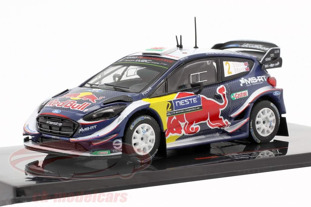 Ford Fiesta WRC #2 7mo Rallye Finlandia 2018 Evans, Barritt 1:43 Ixo
