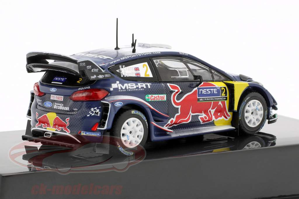 Ford Fiesta WRC #2 7º Rallye Finlândia 2018 Evans, Barritt 1:43 Ixo