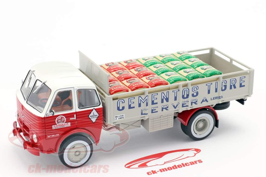Pegaso 1031 Transportador Cementos Tigre 1960 rojo / blanco / gris 1:43 Altaya