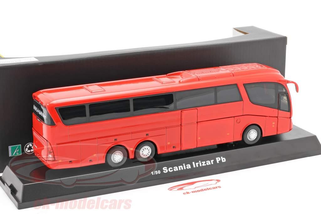 Scania Irizar Pb bus rød 1:50 Cararama