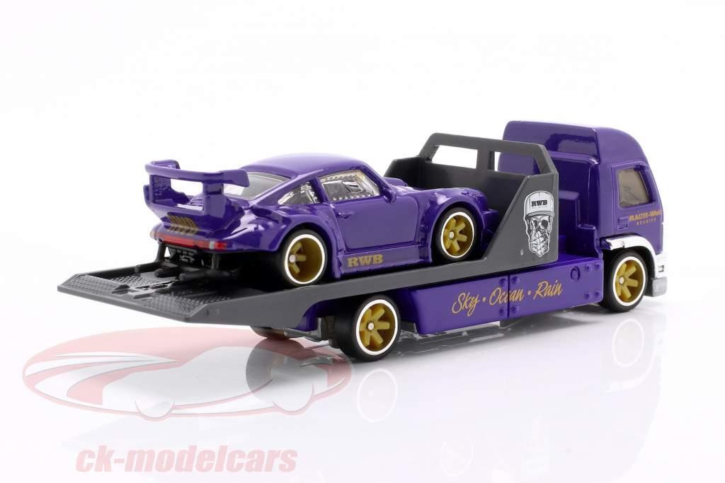 Set Team Transport: Porsche 930 RWB & Aero Lift 1:64 HotWheels