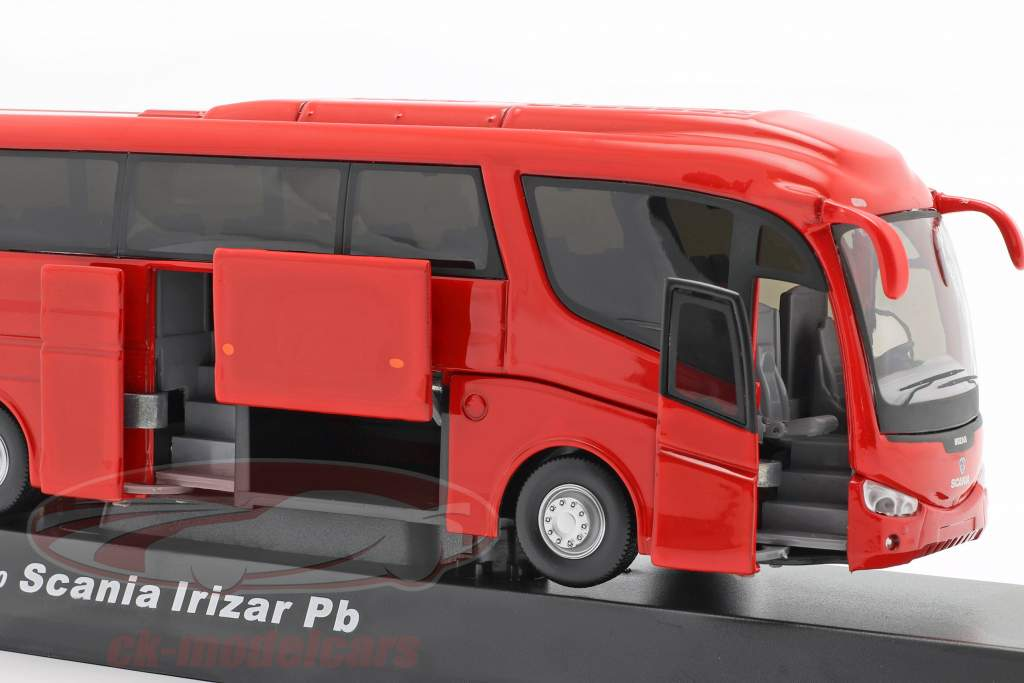 Scania Irizar Pb Bus rouge 1:50 Cararama