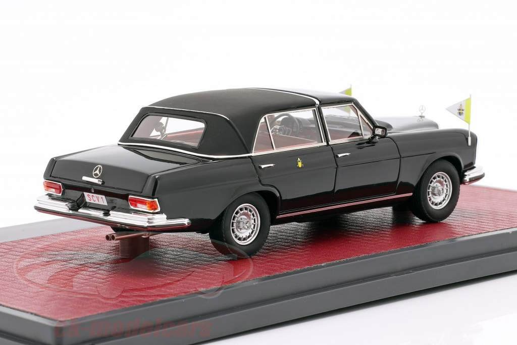 Mercedes-Benz 300SEL Landaulette Vatican City Closed Top 1967 black 1:43 Matrix