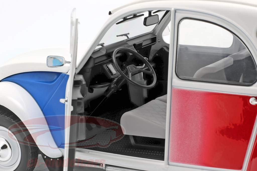 Citroen 2CV Cocorico year 1986 white / blue / red 1:12 Z-Models