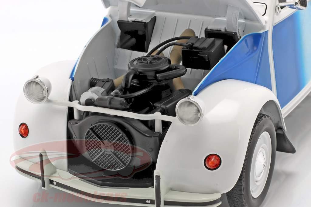 Citroen 2CV Cocorico Año de construcción 1986 blanco / azul / rojo 1:12 Z-Models