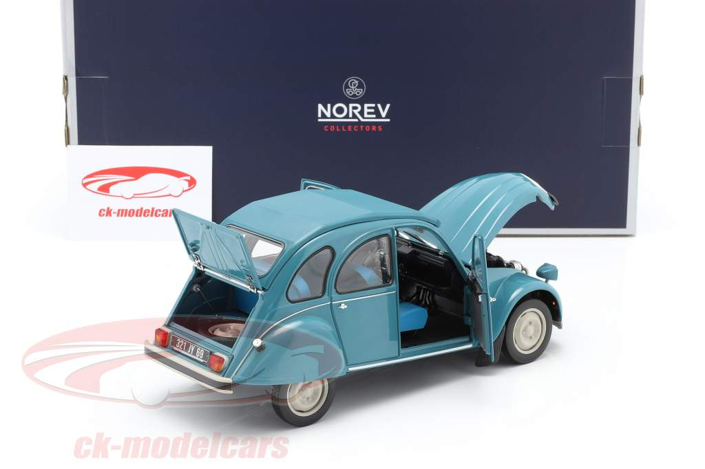 Citroen 2CV 6 Club Año de construcción 1982 laguna azul 1:18 Norev