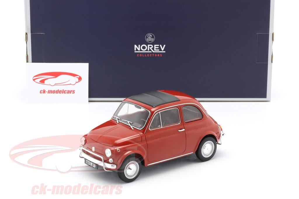 Fiat 500L Año de construcción 1968 coral rojo 1:18 Norev