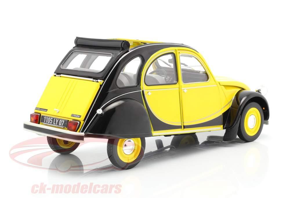 Citroen 2CV 6 Club Año de construcción 1982 helios amarillo / negro 1:18 Norev