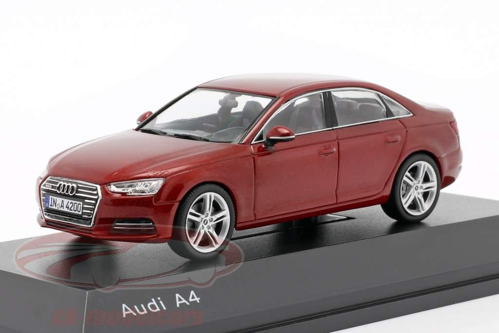 Audi A4 matador rød 1:43 Spark