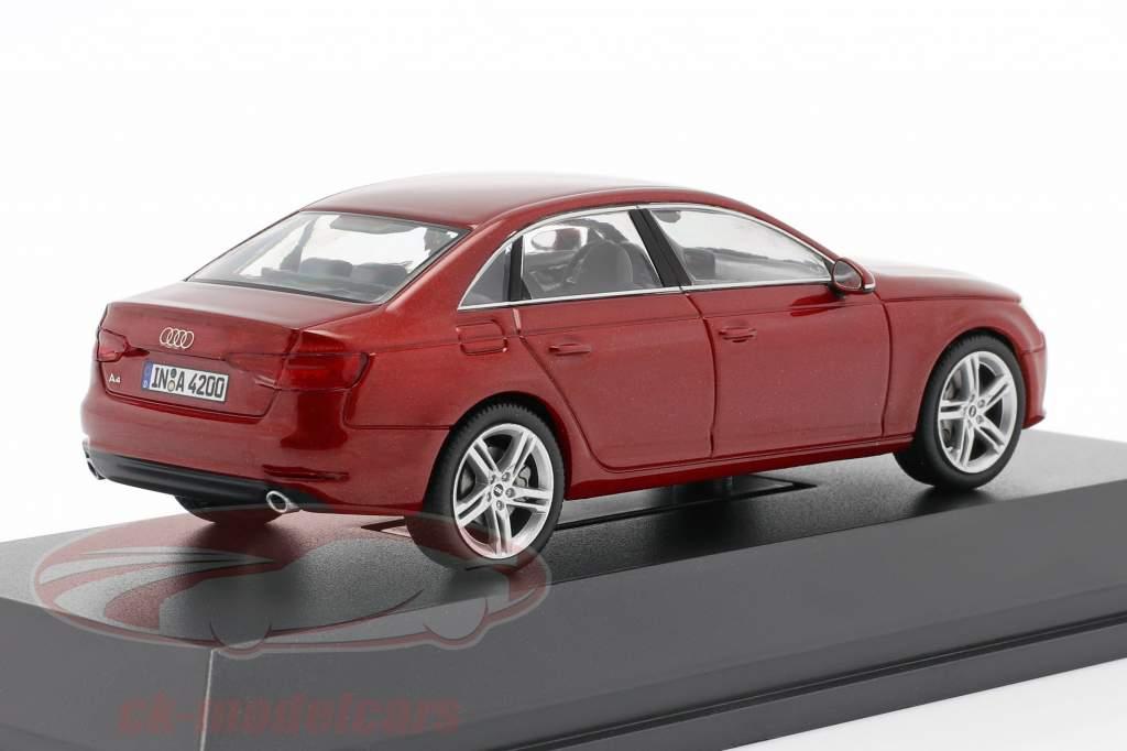 Audi A4 matador rood 1:43 Spark