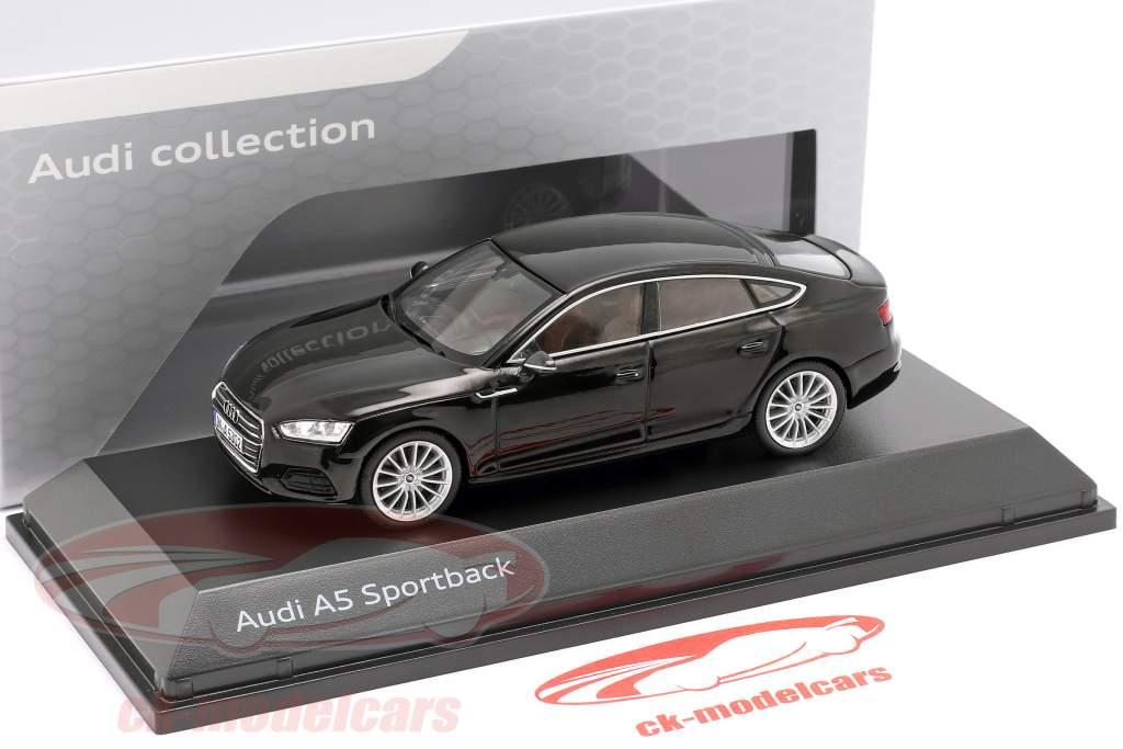 Audi A5 Sportback año de construcción 2017 negro mitos 1:43 Spark