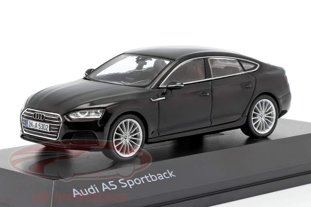 Audi A5 Sportback Bouwjaar 2017 mythos zwart 1:43 Spark