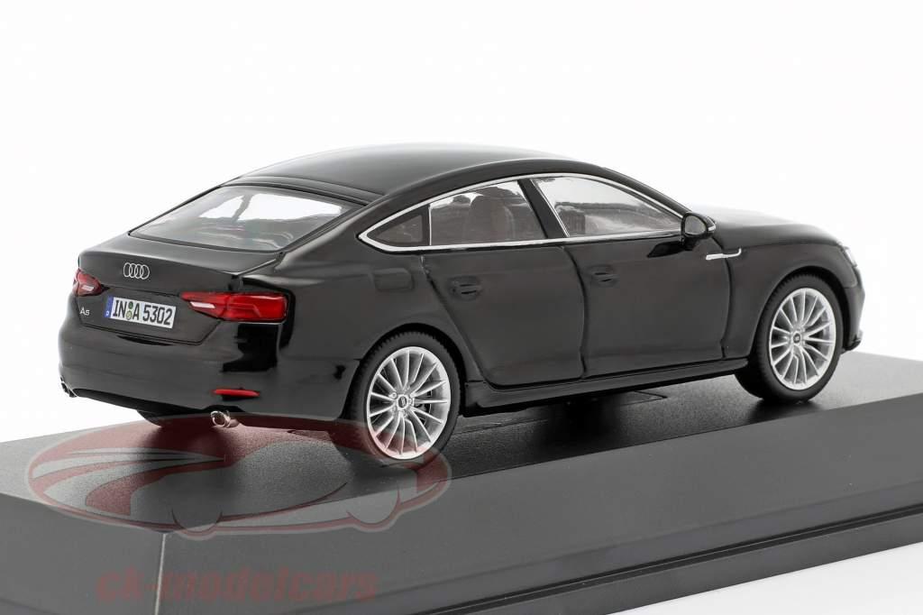 Audi A5 Sportback année de construction 2017 noir Mythos 1:43 Spark