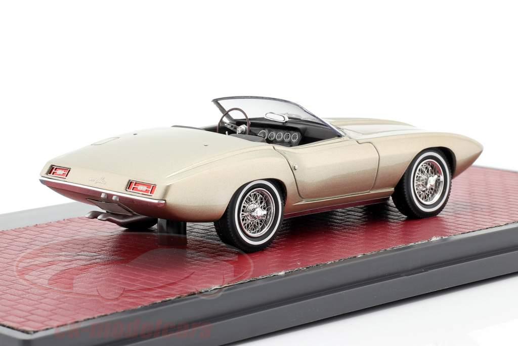Ford XP Bordinat Cobra Concept Car 1965 plata metálico 1:43 Matrix