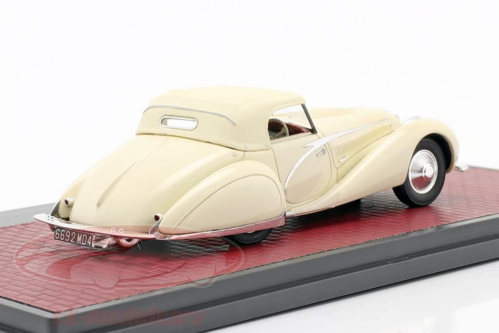 Talbot-Lago T150C Closed Cabriolet Figoni & Falaschi 1936 crema blanco 1:43 Matrix