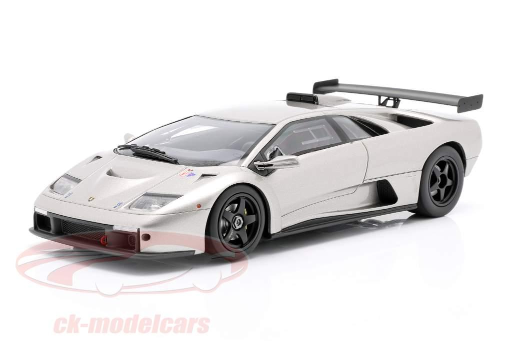 Lamborghini Diablo GTR Byggeår 1999 sølv 1:18 Kyosho
