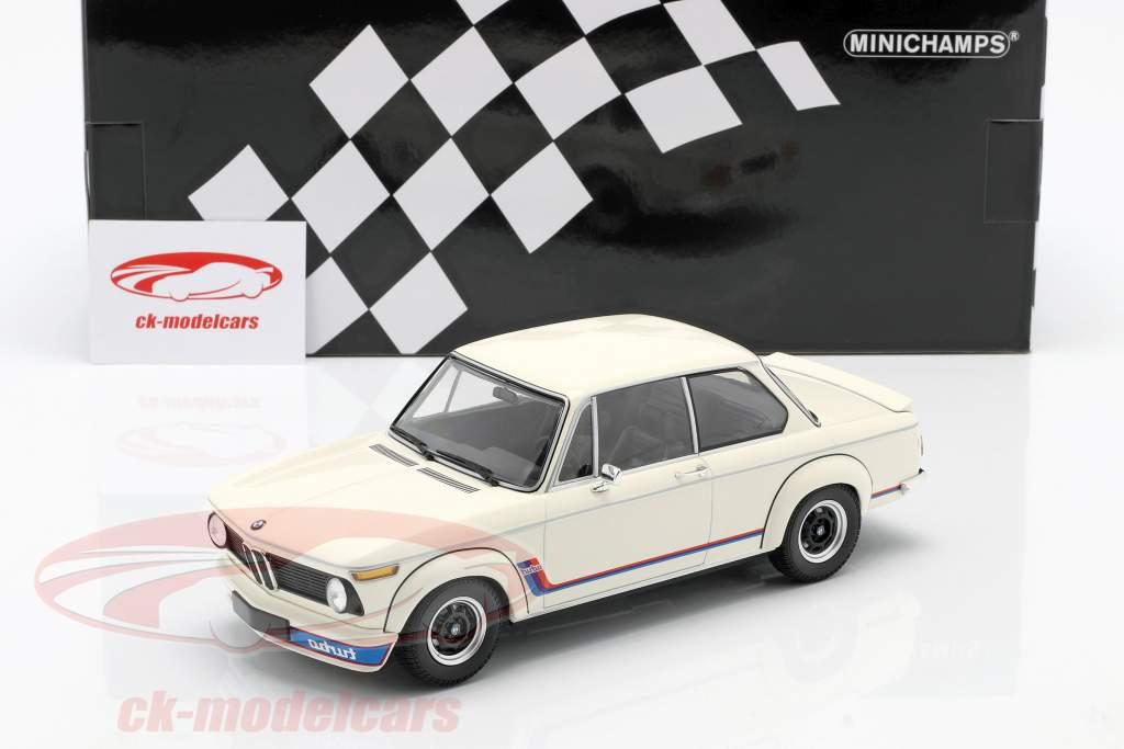 BMW 2002 Turbo (E20) Ano de construção 1973 branco 1:18 Minichamps