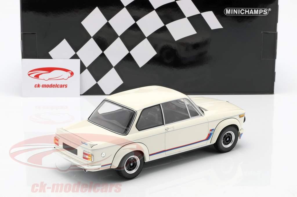 BMW 2002 Turbo (E20) Anno di costruzione 1973 bianco 1:18 Minichamps