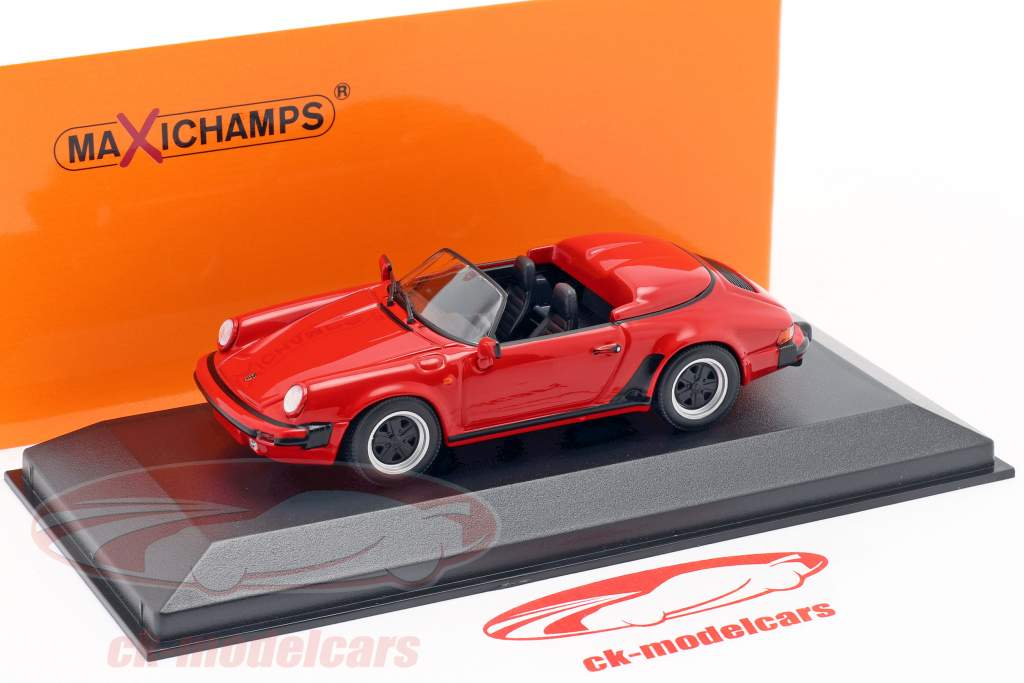 Porsche 911 Speedster year 1988 red 1:43 Minichamps