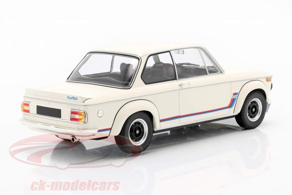 BMW 2002 Turbo (E20) Année de construction 1973 blanc 1:18 Minichamps