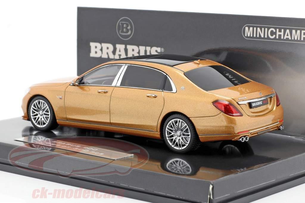 Maybach Brabus 900 basato su Mercedes-Benz Maybach S600 2016 oro 1:43 Minichamps