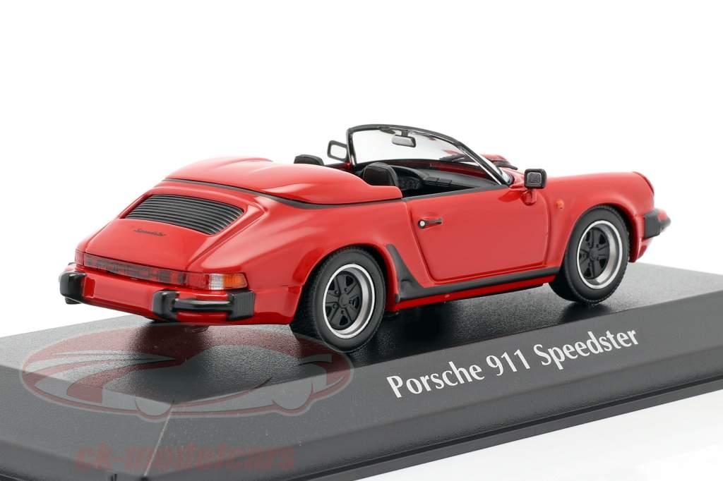 Porsche 911 Speedster Byggeår 1988 rød 1:43 Minichamps