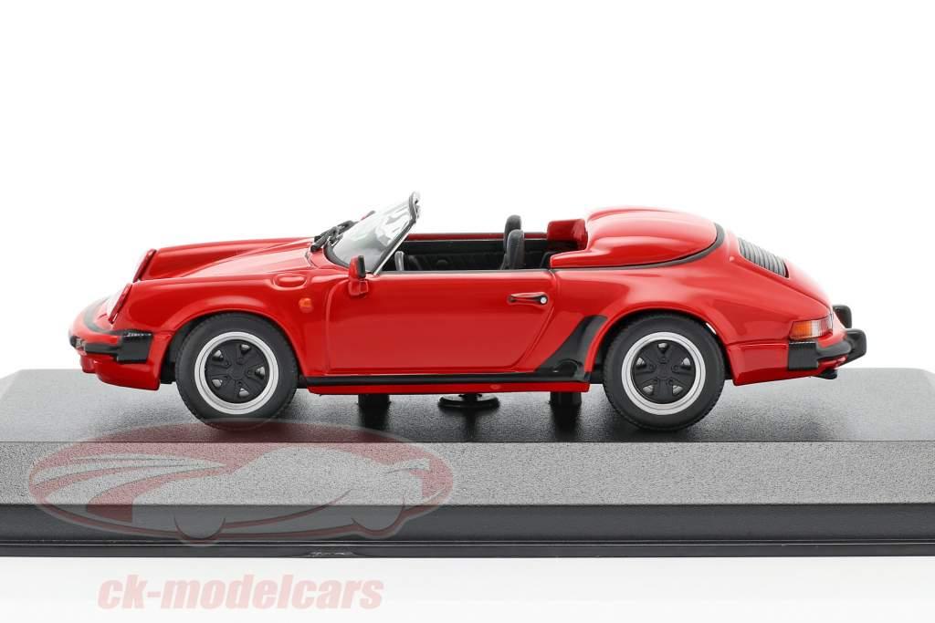 Porsche 911 Speedster Bouwjaar 1988 rood 1:43 Minichamps