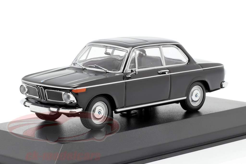 BMW 1600 Año de construcción 1968 negro 1:43 Minichamps
