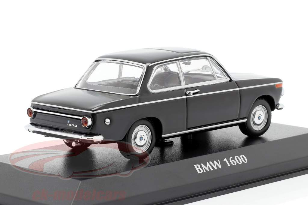 BMW 1600 Année de construction 1968 noir 1:43 Minichamps