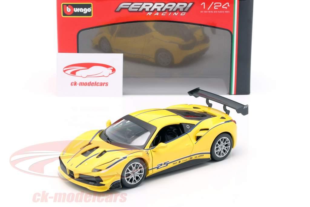 Ferrari 488 Challenge #25 jaune 1:24 Bburago