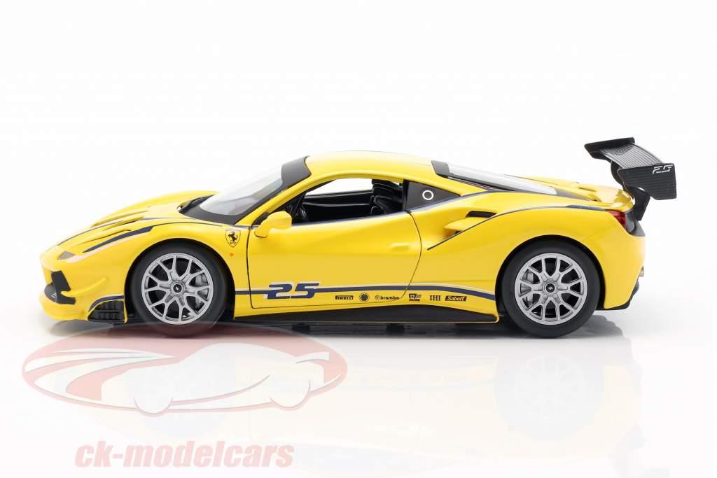 Ferrari 488 Challenge #25 黄色的 1:24 Bburago